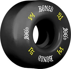 RODA BONES 100s 51MM BLACK/YELLOW