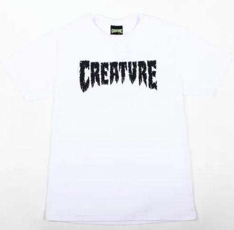Camiseta Creature shredded branca GG