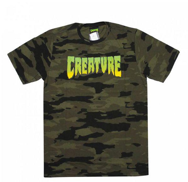 Camiseta Creature Camuflada GG