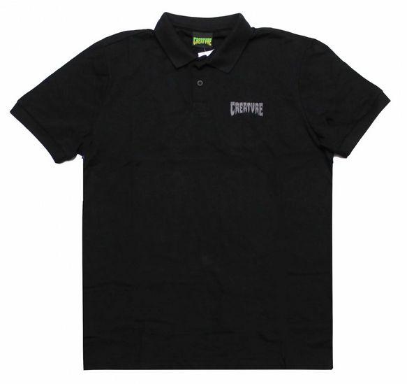 Camiseta Polo Creature preta G