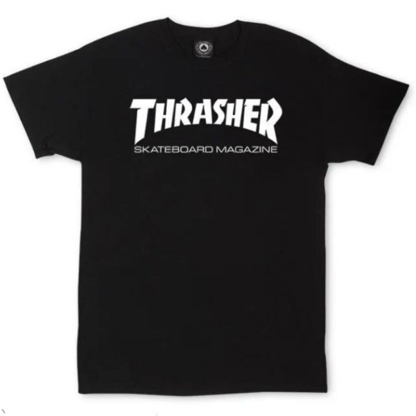 CAMISETA THRASHER JUVENIL BLACK TAM. 10