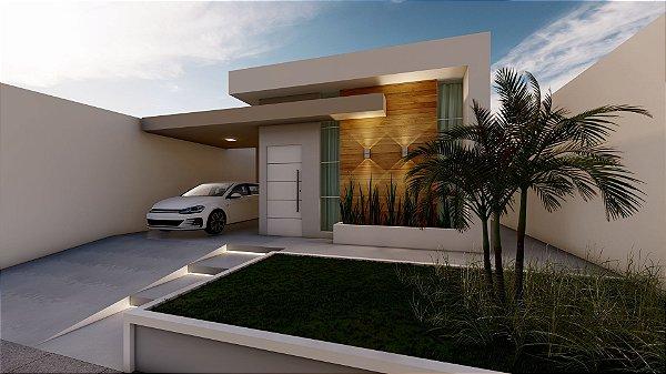 Casa térrea para terrenos 10x20