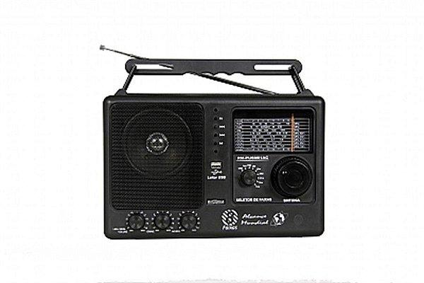 RM-PUSM81AC-Rádio Portátil 8 faixas com Sintonia Fina e USB