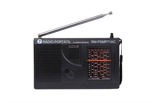 RM-PSMP71AC-RÁDIO 7 Faixas FM1+FM2+OM+4 OC MÉDIO