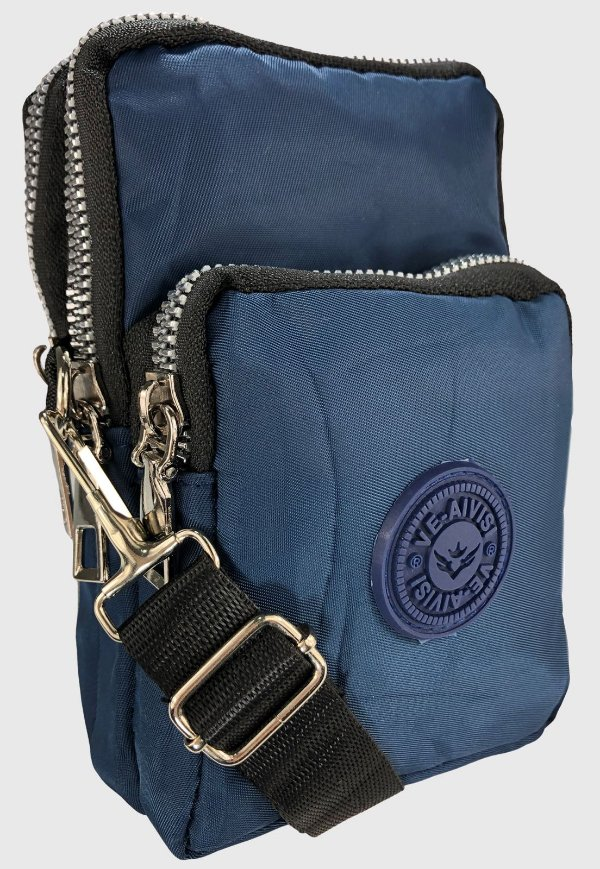Shoulder Bag Bolsa Transversal de Nylon Azul B027