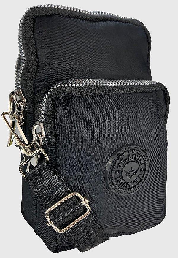 Shoulder Bag Bolsa Transversal de Nylon Preta B027