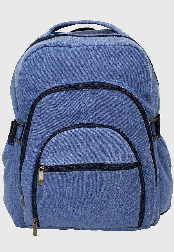 Mochila Jeans Escolar Grande Delavê L083