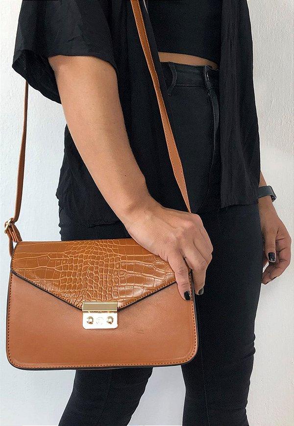 Bolsa Feminina Tiracolo Pequena Caramelo B009