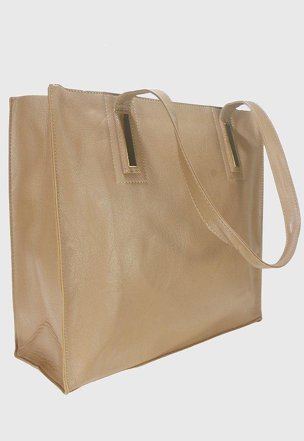 Shopper Bag Bolsa Feminina de Ombro Grande Bege B023