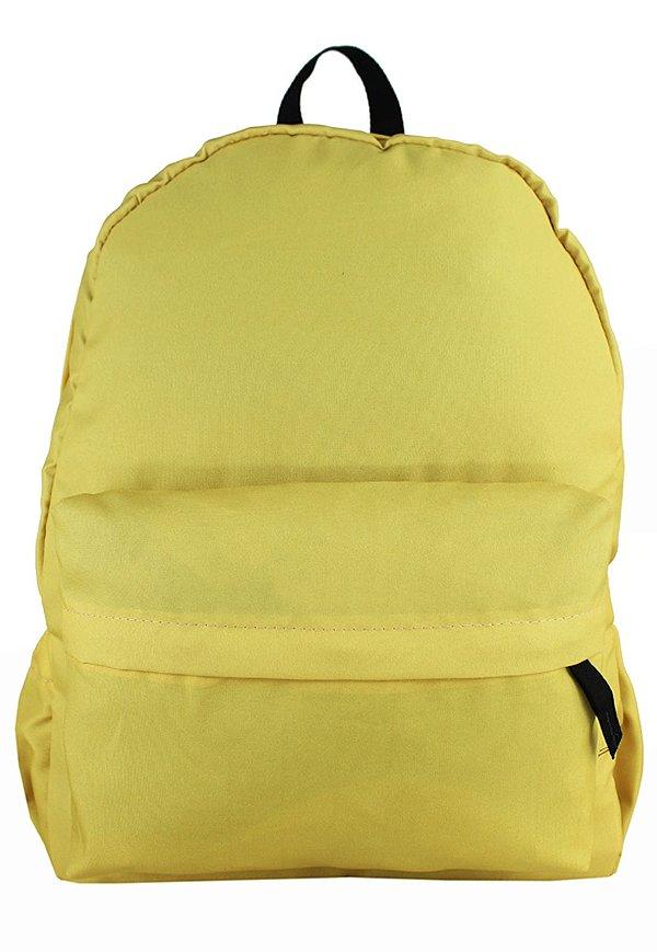 Mochila Escolar Menina Menino Nylon Amarela F001