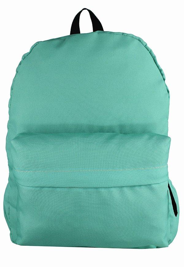 Mochila Escolar Menina Menino Nylon Verde F001