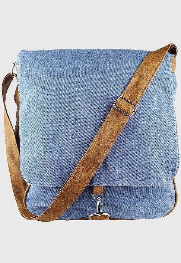 Bolsa Transversal Jeans Azul Delavê L068