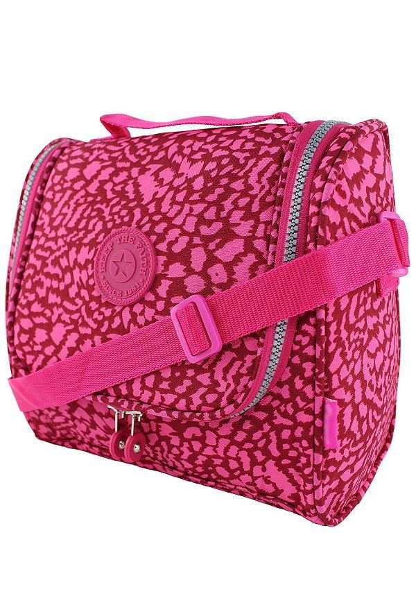 Bolsa Marmiteira Térmica Feminina Estampada Pink B012
