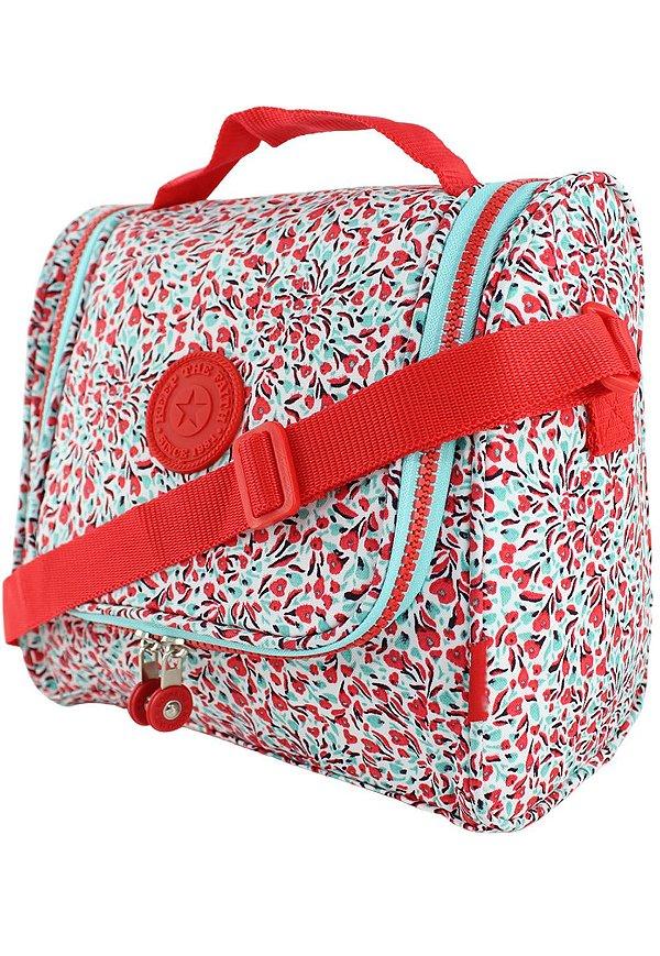 Bolsa Marmiteira Térmica Feminina Estampada Vermelha B012
