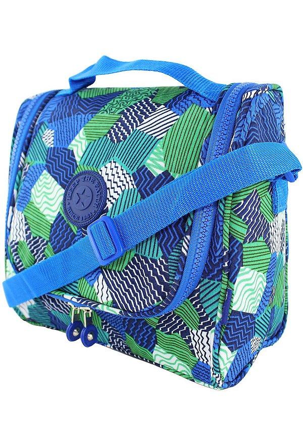 Bolsa Marmiteira Térmica Feminina Estampada Azul B012