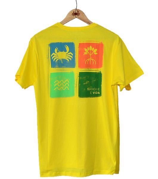 Camiseta Mangue é vida - Amarela