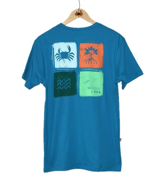 Camiseta Mangue é vida - Azul