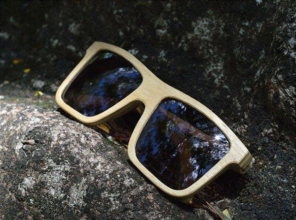MALUNGO Grande Claro (15.2cm) - Óculos de madeira