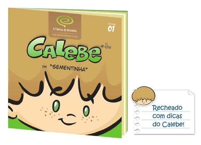 """Livro infantil do Calebe em """"Sementinha"""""""