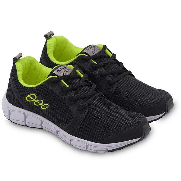 Tênis Jogging Infantil Preto Amarelo Limão Black Free 6700