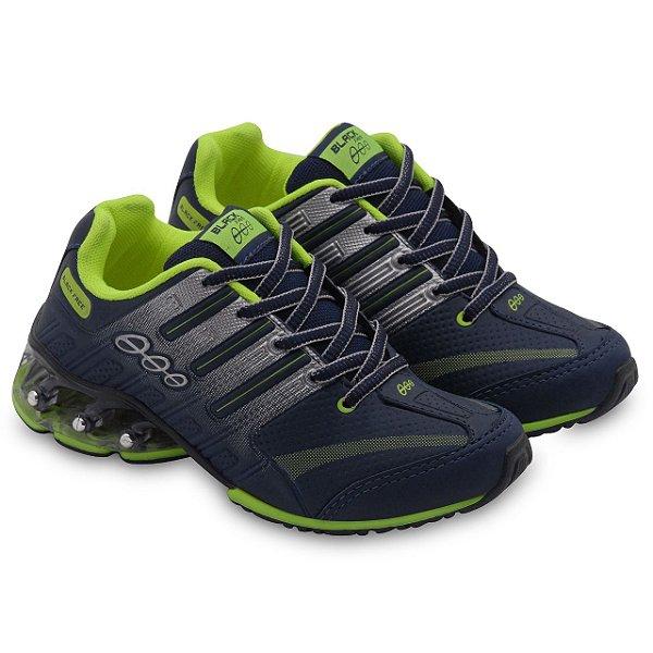 Tênis Jogging Infantil Marinho Verde Black Free 18605