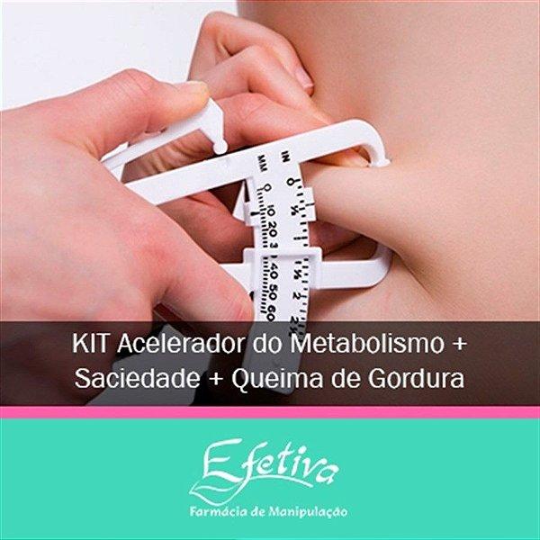 Kit Acelerador do Metabolismo + Sensação de Saciedade + Queima de Gordura Localizada