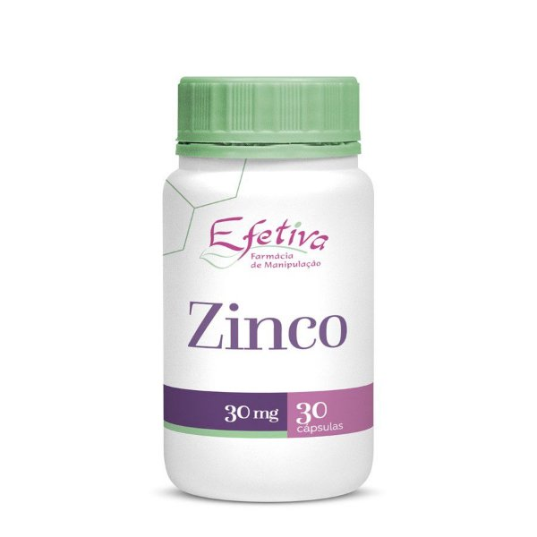 Zinco 30mg Cápsulas Controle da Oleosidade