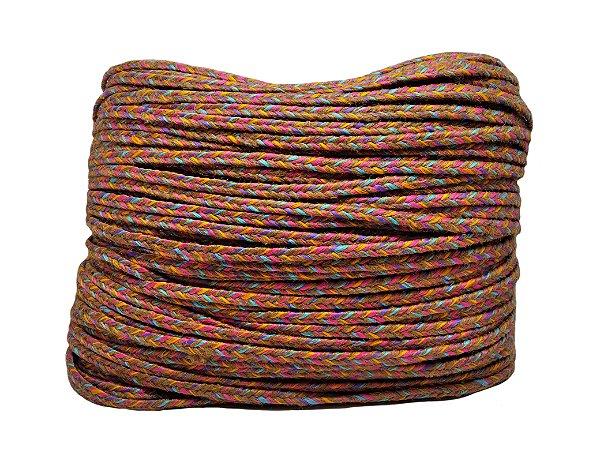 Trança Chata - 7mm - Mista (Juta/Poliéster) queimada -  (rolo de corda c/270mts)