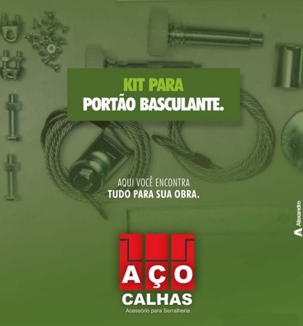 """KIT PORTÃO BASCULHANTE - ROLDANA 3"""""""
