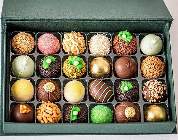Caixa de doces finos sortidos com 24 unidades