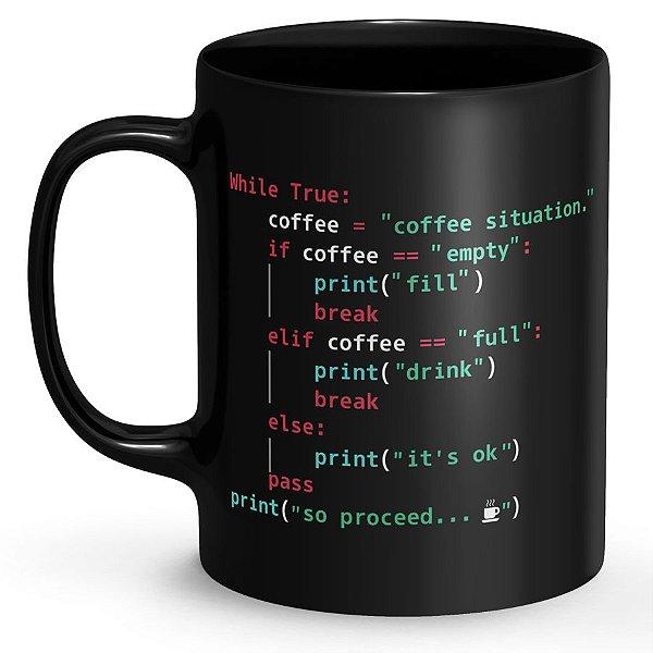 Caneca Preta Programador (a).