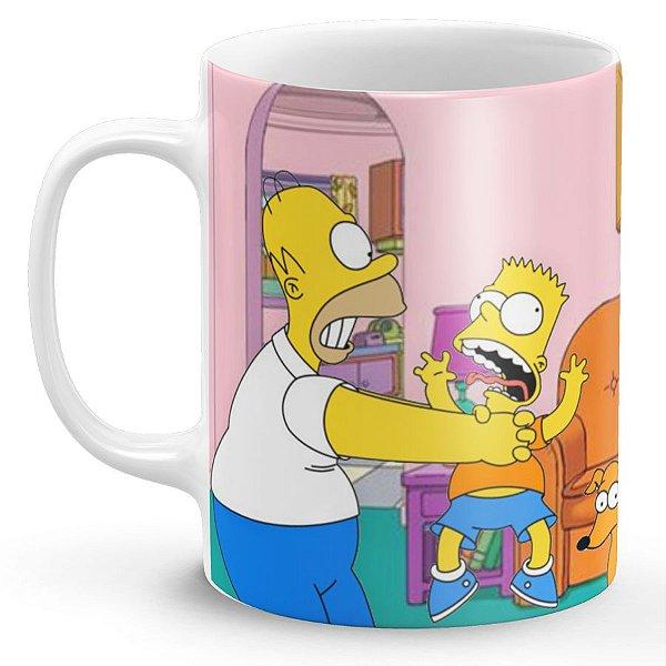 Caneca Dia dos Pais Homer Simpson e Bart