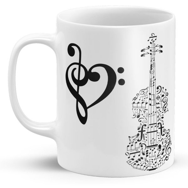Caneca de Porcelana Claves Violino
