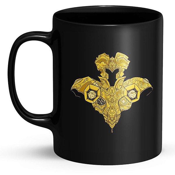 Caneca de Porcelana Cavaleiros do Zodíaco Gêmeos