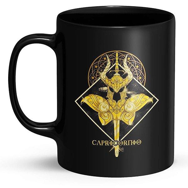 Caneca Cavaleiros do Zodíaco Capricórnio