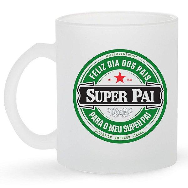 Caneca de Vidro Personalizada Dia dos Pais - Super Pai - Heineken
