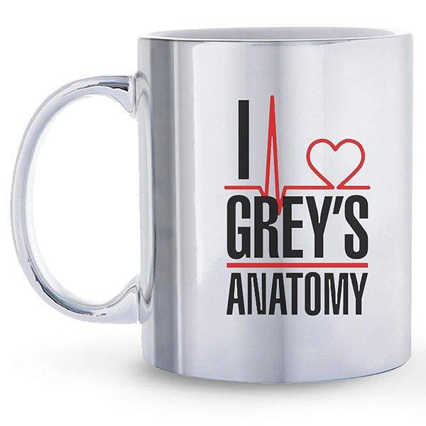Caneca Espelhada Eu Amo Grey`s Anatomy