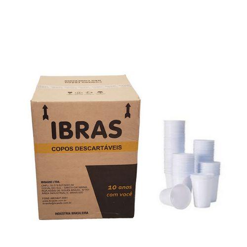 Copo Descartavel Ibras Branco 180 ml.