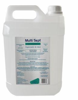 Álcool Gel 70% Multi Sept - Galão 5L