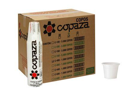 Copo Descartável para Café PS Branco 50ml com 5000 Unidades - Copaza