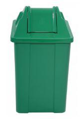 Lixeira Plástica Quadrada com Tampa Vai-Vem