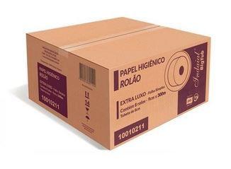 Papel Higiênico Rolão Extra Luxo BIG TUB 9cmx300m - Folha Simples