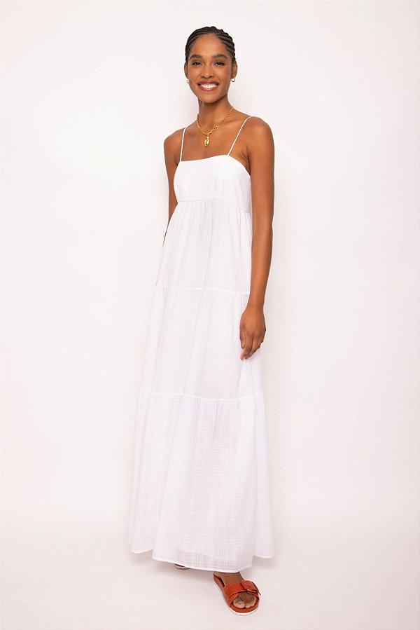 vestido longo alça branco