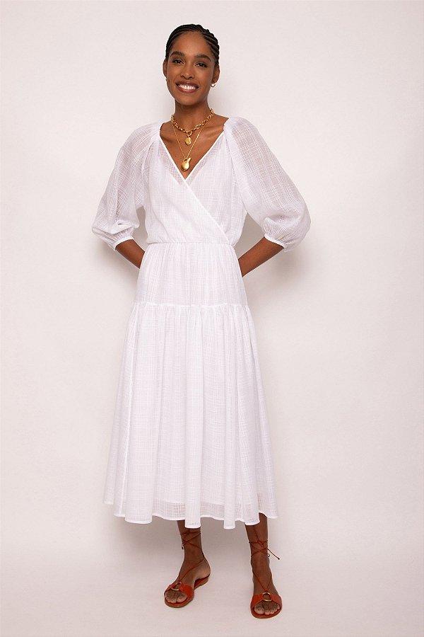 vestido cache coeur branco