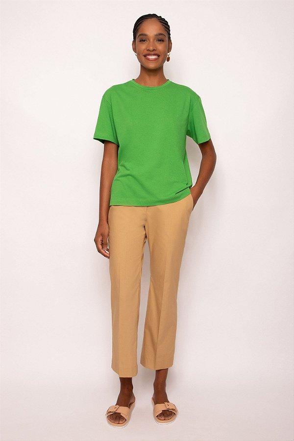 t-shirt malha verde
