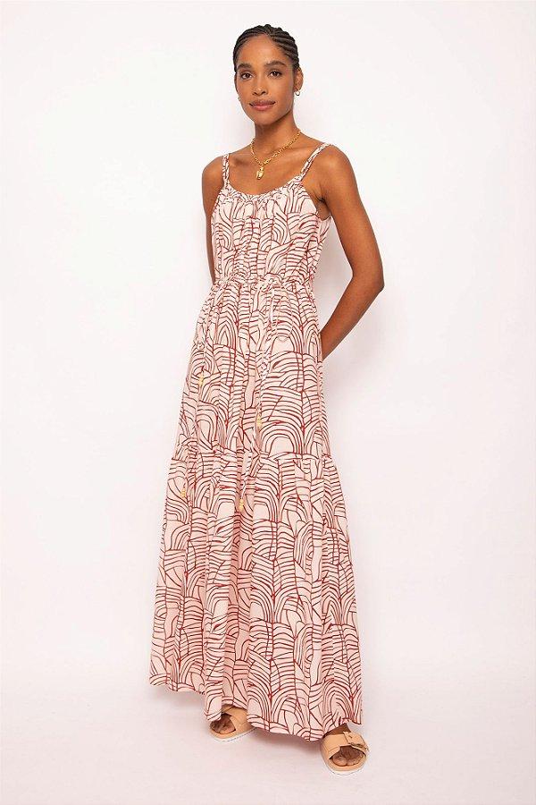 vestido longo colissê rede atanado