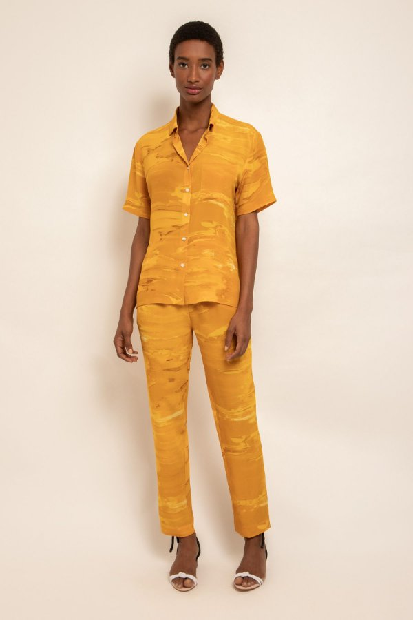 Camisa manga curta água amarela