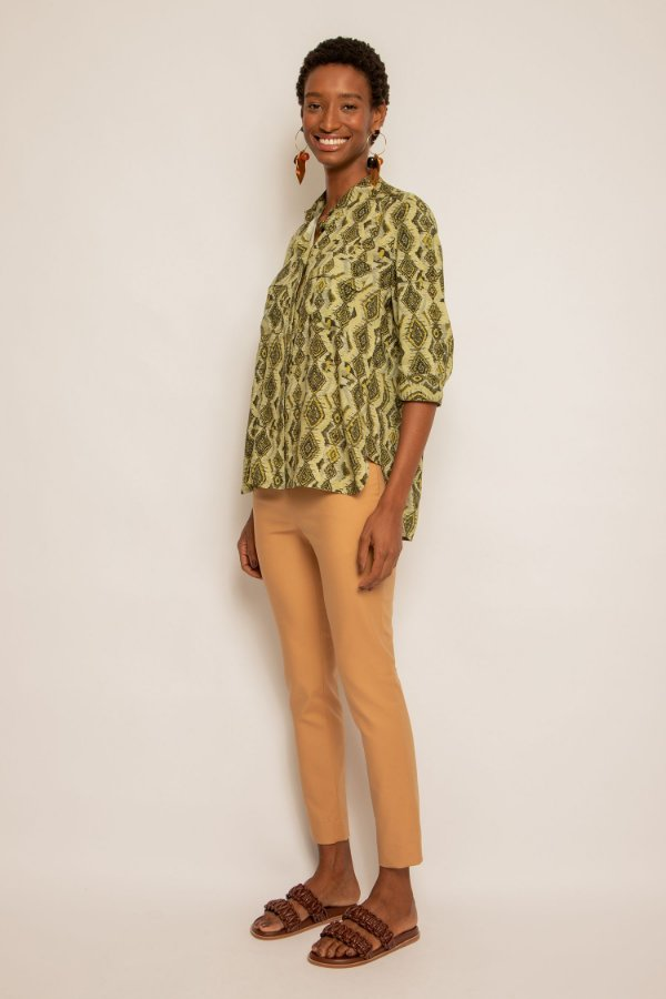 Camisa manga curta bolsos atlas oliva