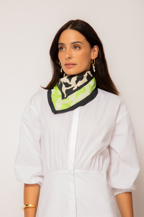 vestido de tricoline chemise branco - BRANCO
