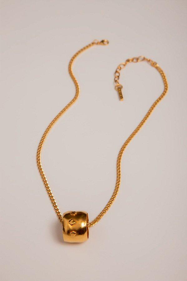 colar de corrente com anel ouro